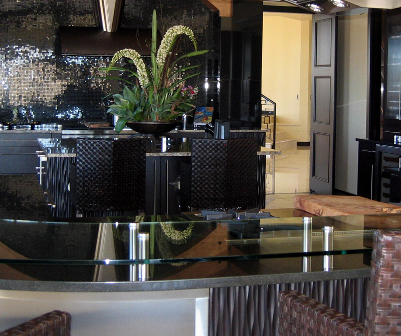 Curved Glass Countertop
