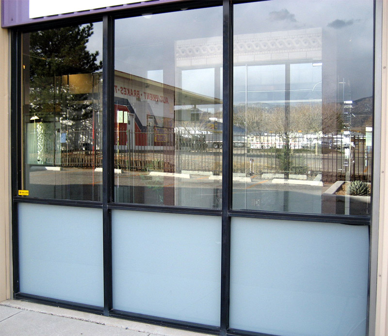 Tempered Glass Storefront